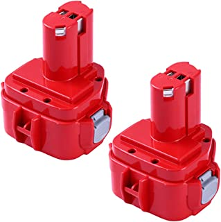 3600mAh PA12 Replacement for Makita 12V Battery Ni-MH 1200 1201 1201A 1202 1202A 1220 1222 1233 1235A 1233S 1233SA 1233SB 1234 1235 1235B 1235F 193157-5 Cordless Tools - 2 Pack