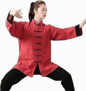 Tai Chi odzież damska, jesień i zima gruba bawełna konopie marszczona len sztuki walki w średnim wieku i starszych odzież ...