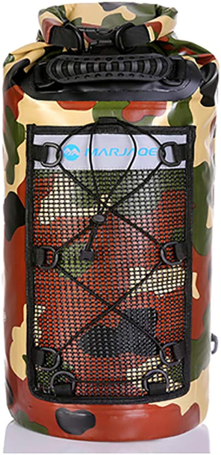 Camouflage Waterproof Backpack, Waterproof Grade IPX6 Wet and Dry separation25L Backpack, Suitable for Swimming Canoeing Kayaking Hiking Camping