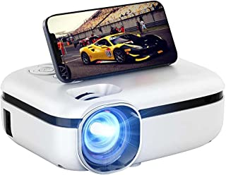 """WiFi Projector, 3800L HD Outdoor Mini Projector, 1080P & 200"""" Screen Supported, Movie Home Theater for TV Stick, Video Gam..."""
