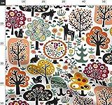 Blumen, Skandinavisch, Hirsch, Bäume Stoffe - Individuell