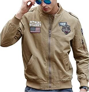 (アルファーフープ)α-HOOP メンズ カーゴ アウター ミリタリー 長袖 ブルゾン ジップアップ ジャケット ジャンパー 上着 ma-1 QR-4
