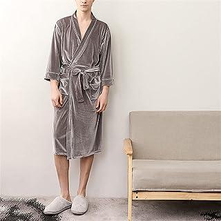 SKREOJF Chemise De Nuit Femme Homme Couleur Unie Long Couple Peignoirs Vêtements De Maison Grande Taille Chemise De Nuit A...