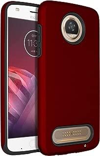 SENON Moto Z2 Play Case, Slim-fit Shockproof Anti-Scratch Anti-Fingerprint Protective Case Cover for Motorola Moto Z2 Play Red