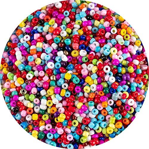 MURUI WSA1 Colorido Multicolor 3mm 500 unids Granos de Vidrio checo para la Pulsera Collar Pendientes Joyería DIY Semilla Beads Material YC0329 (Color : A51, Item Diameter : 3mm)
