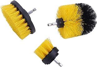 3PC Boorborstel Plastic Ronde Reinigingsborstel Elektrische Scrubber Borstel voor Tapijt Glas Autobanden (Size : A)