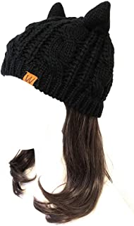 Wrapables Winter Warm Cable Knit Cat Ears Beanie