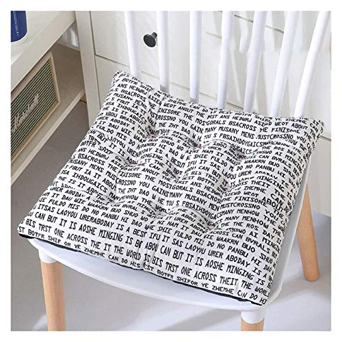 JIUYUE Set of 4 Beautiful Dining Chair Cushion Seat Pads with Ties for Indoor Outdoor Garden Patio Kitchen & Office Chairs Garden Cushion (Color : Cat, Size : 40x40cm)