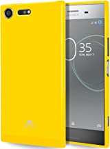 GOOSPERY Pearl Jelly for Sony Xperia XZ Premium Case with Screen Protector Slim Thin Rubber Case (Yellow) XPXZP-JEL/SP-YEL