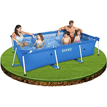 INTEX インテックス フレームプール カバー付き お庭で簡単設置 家庭用 300cm X200cm