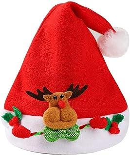 ChenCheng Sombrero de Navidad de Dibujos Animados Lindo Navidad niño Regalo de Talla Universal Sombrero Paquete de Cuatro Suministros de Vacaciones