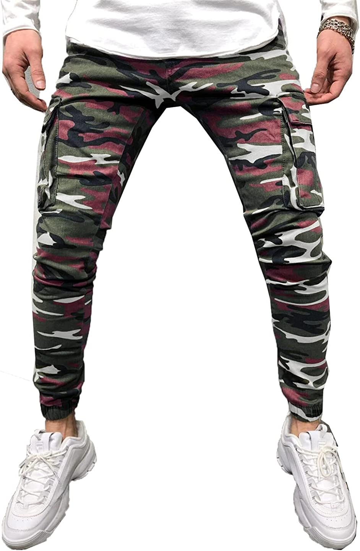 Camouflage Style Men Pants Military Pants Slim Multi-Pocket Cargo Pants Hip Hop Pencil Jeans Men