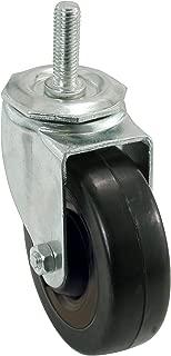 Shepherd Hardware 9023 4-Inch Soft Rubber Swivel Stem Caster, 1/2-Inch Stem Diameter, 200-lb Load Capacity