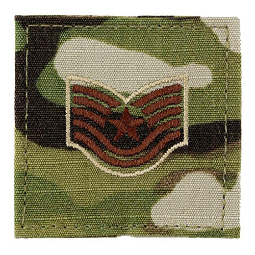 US Air Force Scorpion OCP Enlisted Rank with Hook Fastener (E-6 TECH SERGEANT (TSGT))