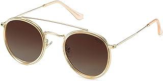 Small Retro Round Polarized Sunglasses UV400 Double...