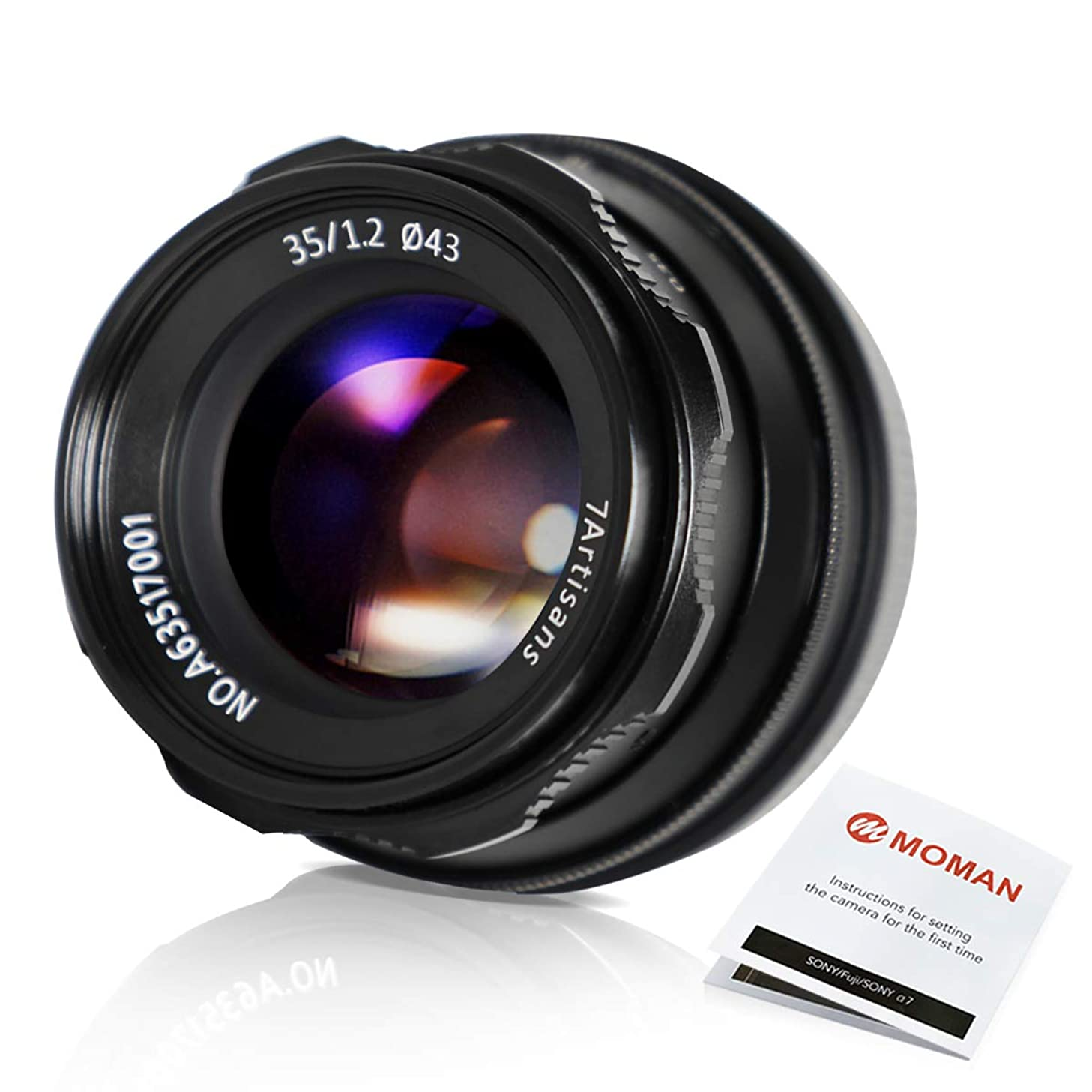 7artisans 35mm F1.2 APS-C Large Aperture Manual Focus Prime Fixed Lens for Mirrorless Cameras with Sony E Mount