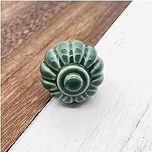Deurslot handvat 1 stuk van enkele gat ronde keramische deurklink Europese stijl kast handvat meubels lade handvat kinderk...