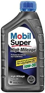 Mobil Super (112901-6PK High Mileage 10W-30 Motor Oil - 1 Quart, (Pack of 6)