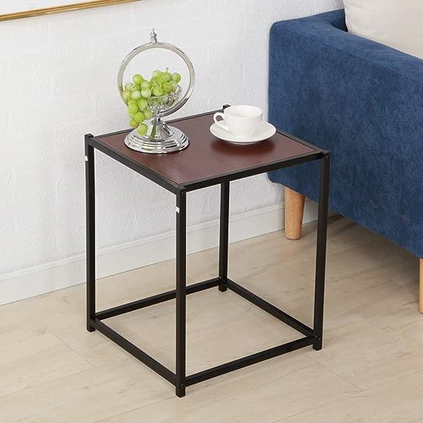 SSLine 木质端桌边桌木质外观装饰家具床头床头柜茶几沙发餐桌带金属框架卧室客厅