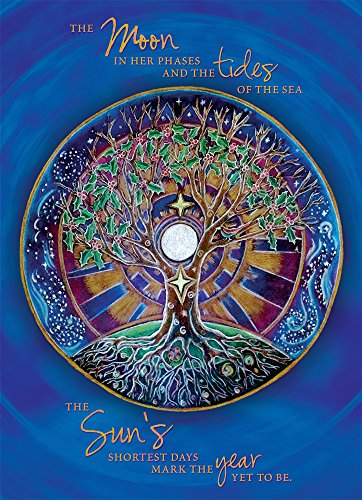 "Tree-Free Greetings Solstice Cards and Envelopes, Set of 10, 5 x 7"", Winter Solstice Mandala (HB93380)"