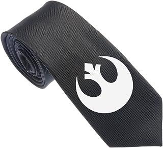 Uyoung Star Wars Rebel Alliance Symbol Black Men's Woven 2.5 Skinny Tie