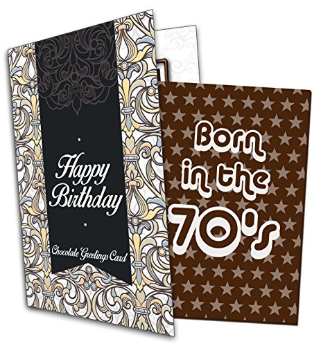 Born in the 70s Belgian Chocolate Greeting Card