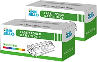InkJello Compatible Toner Cartucho Reemplazo por Brother DCP-7055 DCP-7055W HL-2130 HL-2132 HL-2135W TN2010 (Negro, Doble-Pack)