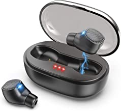 Wireless Earbuds, VNVM True Wireless Earbuds Bluetooth 5.0 Headphones Deep Bass Stereo Sound IPX7 Waterproof Auto Pairing in-Ear Bluetooth Earphone with Charging Case
