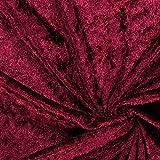 Fabulous Fabrics Pannesamt Bordeauxrot – Weicher Samt