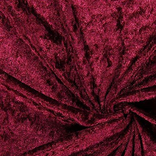 Fabulous Fabrics Pannesamt Bordeauxrot – Weicher Samt Stoff zum Nähen von Kleidern, Oberteilen, Tüchern und Tischdecken - Pannesamt Dekostoff & Bekleidungsstoff - Meterware ab 0,5m