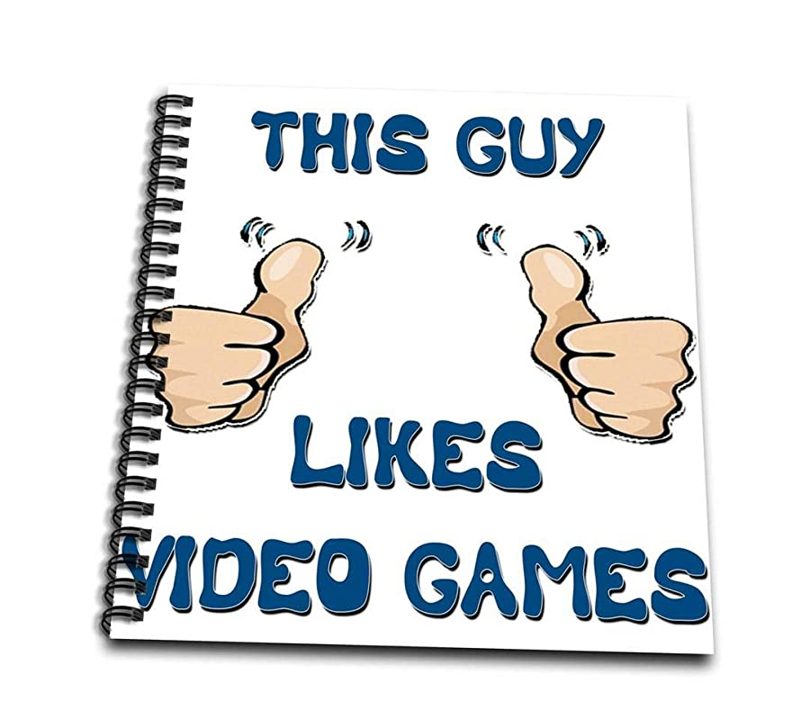 3dRose db_150506_1 This Guy Likes Video Games Drawing Book, 8 by 8