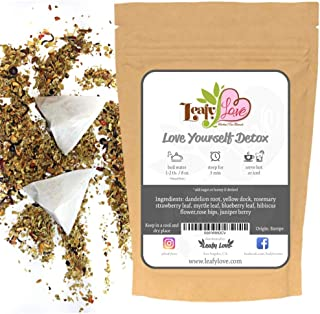 All Natural Everyday Detox Tea with Biodegradable Tea Bags - Healthy Cleansing Support - Improve Toxic Gut- Support Liver ...