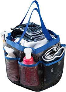 Lonnie Life Shower Caddy Tote,Quick Dry Shower Bag,Oxford Double Handle Bathroom Organizer with 7 Oversized Storage Compartments Shower Tote Bag,Portable Mesh Shower Caddy for Camping,Gym,College Dorm