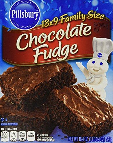 Pillsbury Chocolate Fudge Brownie Mix 184 Oz Pack of 6