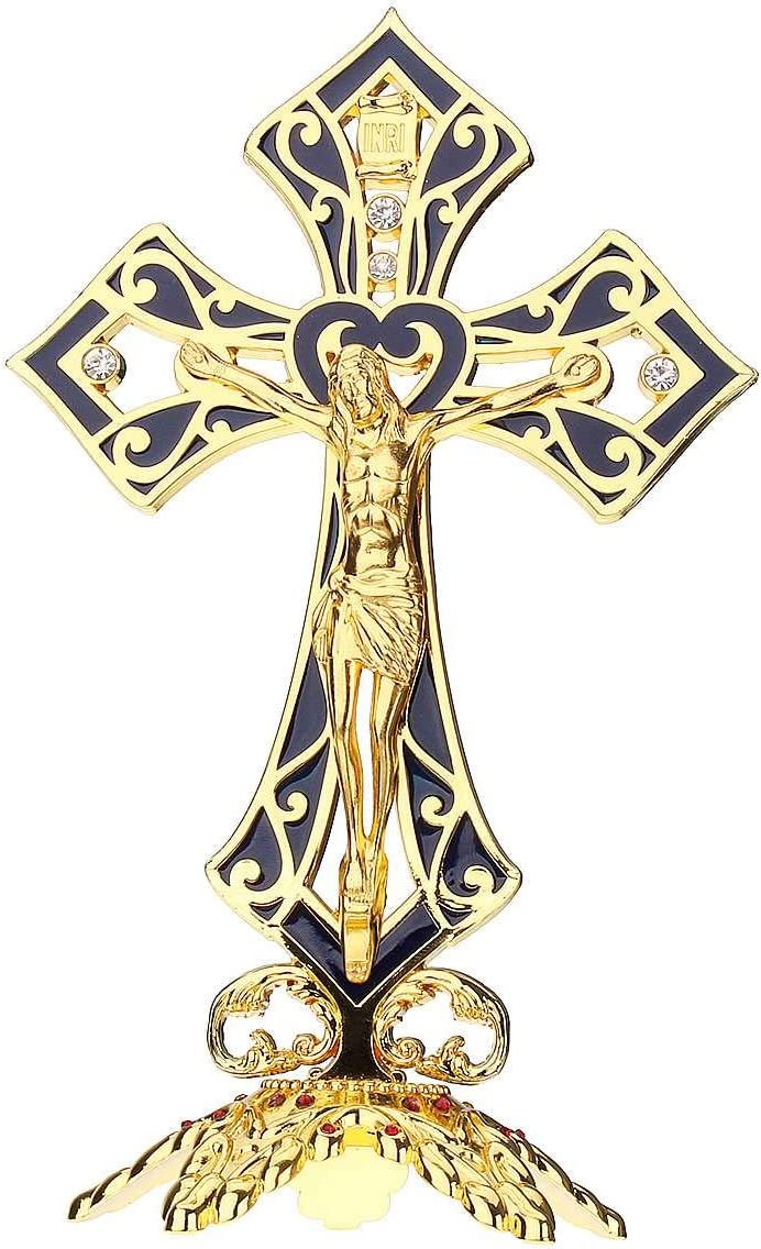 Limited price sale Christian Decor Metal Alloy Portland Mall Gold Wall Relics Church Jes Crucifix