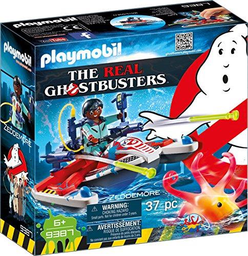 PLAYMOBIL Ghostbusters 9387 Zeddemore mit Aqua Scooter, Schwimmfähig, Ab 6 Jahren