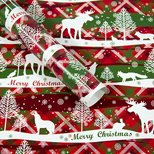 Shirt Luv Home Decor Christmas Wrapping Paper Gift Present Tree Santa Wrap Decorative Xmas Party Roll E