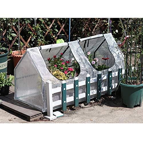 SSZZ Mini Casa De Flores Portátil Invernadero Cubierta De PE Impermeable Puertas con Cremallera Exterior Planta Verde Casa Jardín Patio Patio Trasero Cobertizo,A