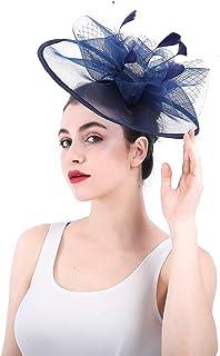 女性の魅力的な帽子 レディースエレガントで魅力的な帽子ブライダルヘッドドレスフラワーヘアアクセサリーウェディングカクテルロイヤルアスコット