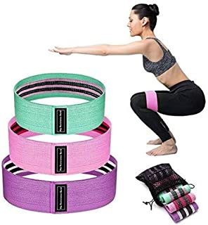 Resistance Bands Exercise Loop Bands for Booty,Resistance Workout Bands for Legs and Butt,Home Fitness,Strength Training -Hips Exercises Bands for Men & Women,Set of 3 Resistance Levels
