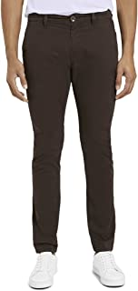 TOM TAILOR Men's Classic Washed Trouser, 24369-Deep Dark Brown, 31