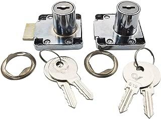Sipery 2Pcs Wardrobe Cabinet Drawer Lock Cupboard Desk Locks Showcase Lock with Keys with Keys