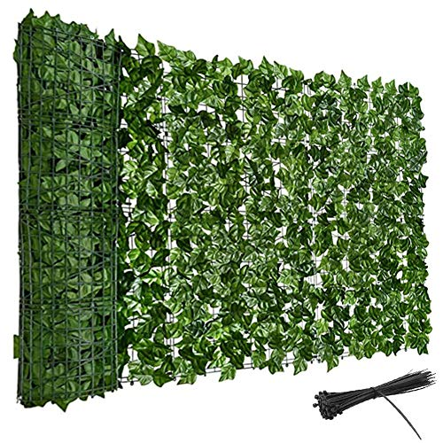 LSXIAO-Decorative Fences Privacy Fence Hedge Artificial Ivy Hedge Anti-UV Anti-fading Weather Resistance Maintenance-free with Zip Tie Garden, Backyard Accessories (Color : Green, Size : 2x3m)