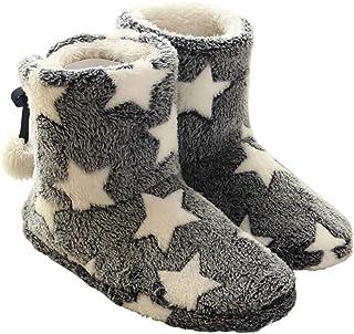 Solaud Dames Huishoudelijke Katoen Laarzen Blauw Roze Laarzen Zachte Pluche Warm Indoor Slippers Laarzen