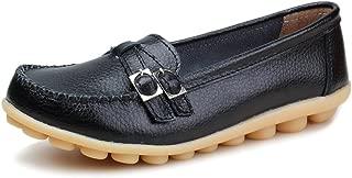 Kunsto Women's Leather Loafer Shoes Slip On