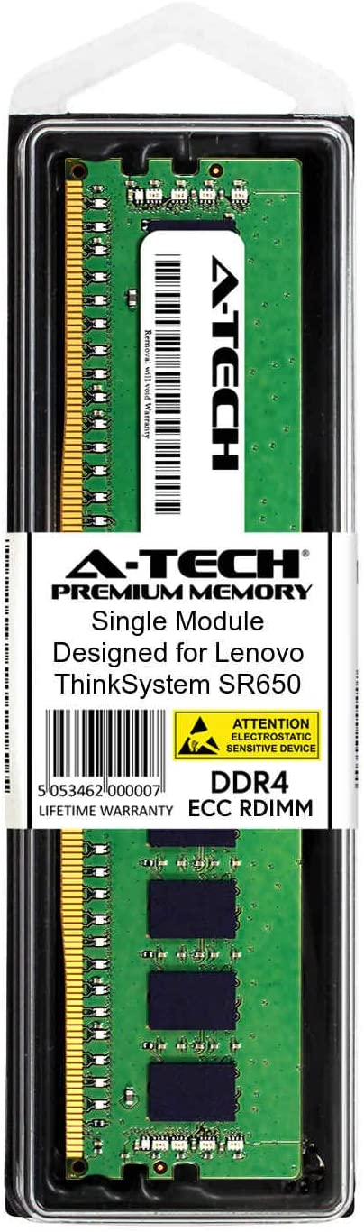 DDR4 PC4-21300 2666Mhz ECC Registered RDIMM 2Rx4 Server Specific Memory Ram AT350957SRV-X1R4 A-Tech 32GB Module for Lenovo ThinkSystem SR650