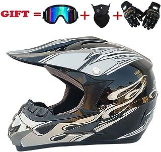 <h2>Erwachsene MX Offroad Motorrad Helm Dirt Bike Motocross ATV VCAN Enduro Dual Sport Motorradhelme DOT Zertifiziert Mit Handschuhe Brille Und Maske 4 Teile Set,Pattern3,S55~56cm</h2>