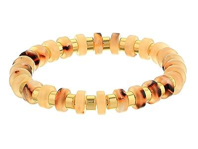 J.Crew Raquel Stretched Disc Bracelet (Flirty Peach) Bracelet