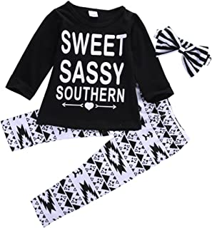 Toddler Kids Girls Sweet Letter Outfits Clothes T-Shirt Tops+Pants 3PCS Set