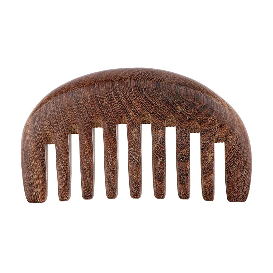 開いた外部安全なくし コーム 荒め 櫛 木製 美髪ケア サンダルウッド製 帯電防止 毛縮れ避け 3色選べ - クロロフォラ